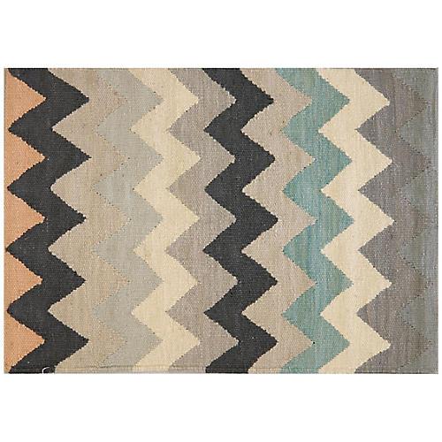 2'x3' Egyptian Kilim Rug, Gray