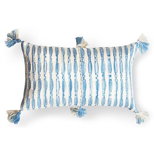 Antigua 12x20 Faded Pillow, Light Blue