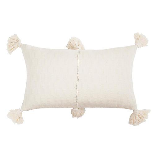 Antigua 12x20 Lumbar Pillow, White