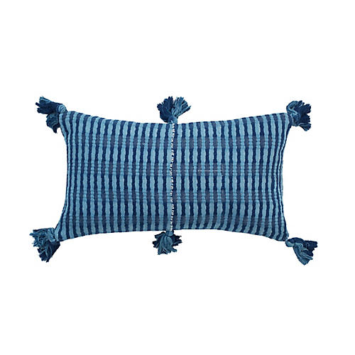 Antigua 12x20 Lumbar Pillow, Navy/Blue