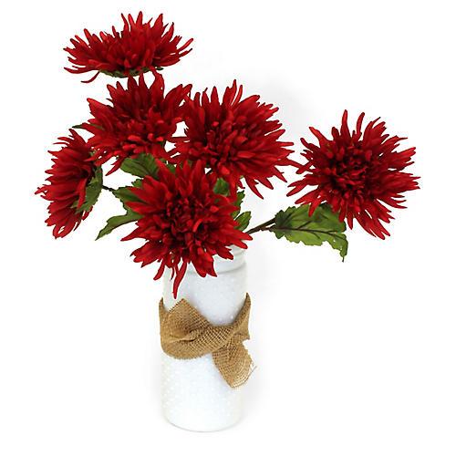 """19"""" Dahlia Arrangement w/ Country Vase, Faux"""