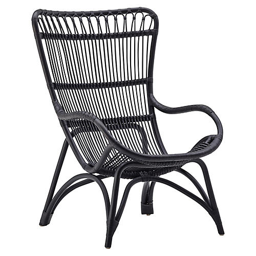 Monet Lounge Chair, Black