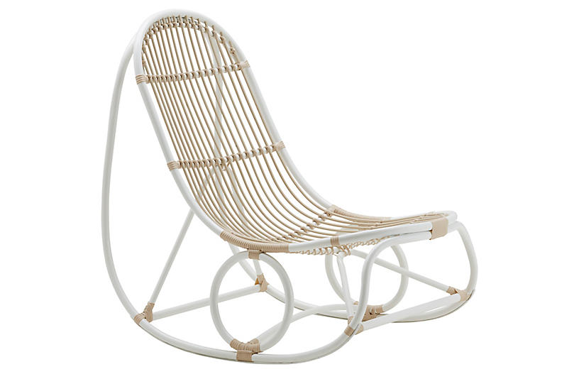 Nanna Ditzel Exterior Rocking Chair, Dove White