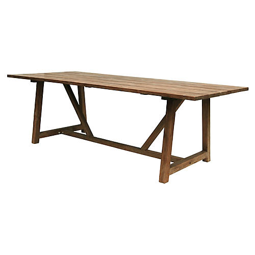 "George 95"" Dining Table, Natural"