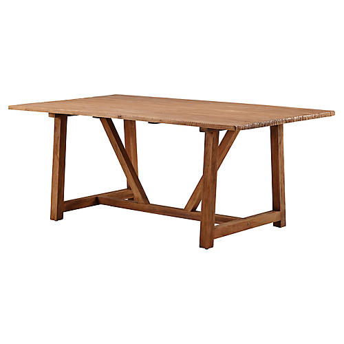 Lucas Dining Table, Natural
