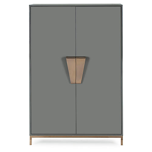Shield Cabinet, Dark Gray