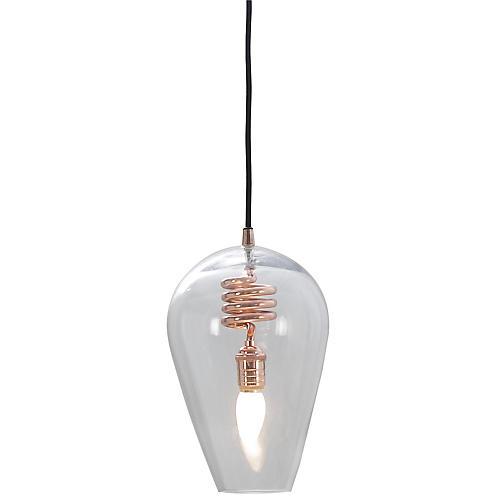 Brando Small Pendant, Copper