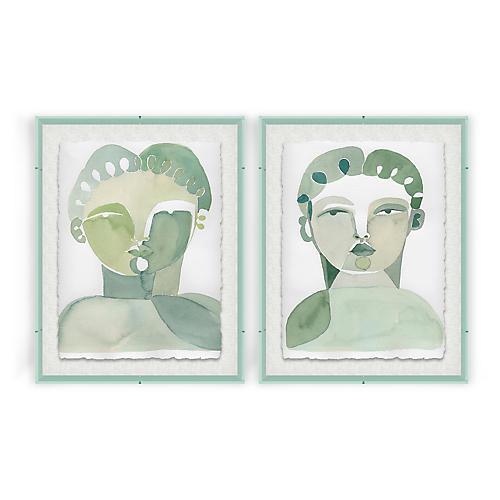 Lou I & Lou II Acrylic Box Painting