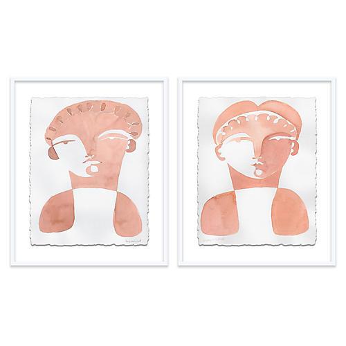 Geoffori & Tomasa Diptych Painting