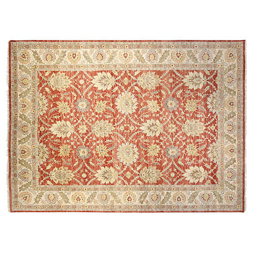 9'x12' Oushak Rug, Red