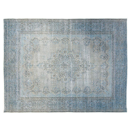 10'x13' Mason Rug, Light Blue
