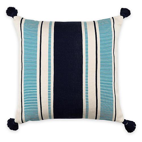 Cabana Stripe 20x20 Pillow, Peacock