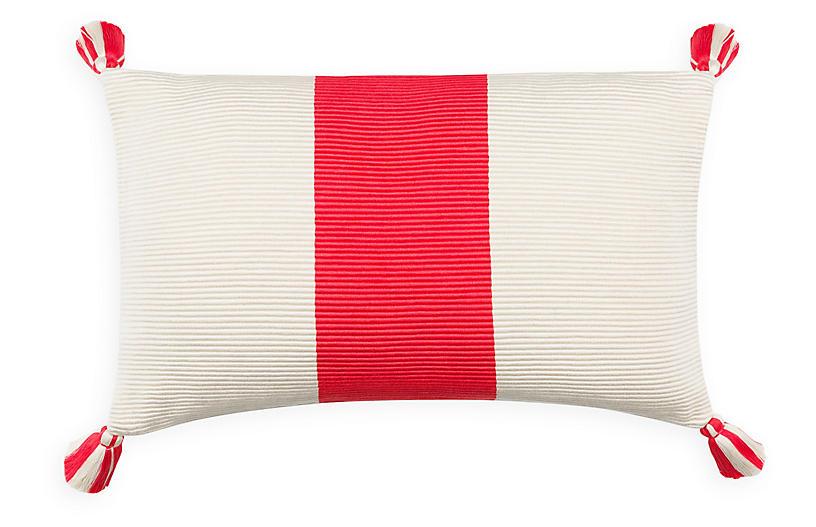 Laguna Stripe 14x20 Pillow, Coral