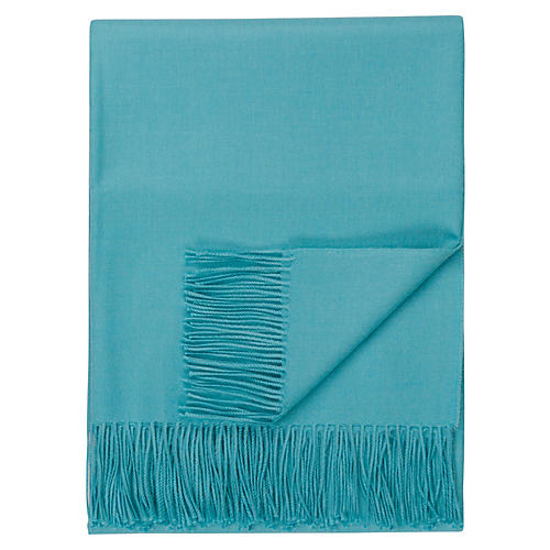 Madison Alpaca Throw, Turquoise