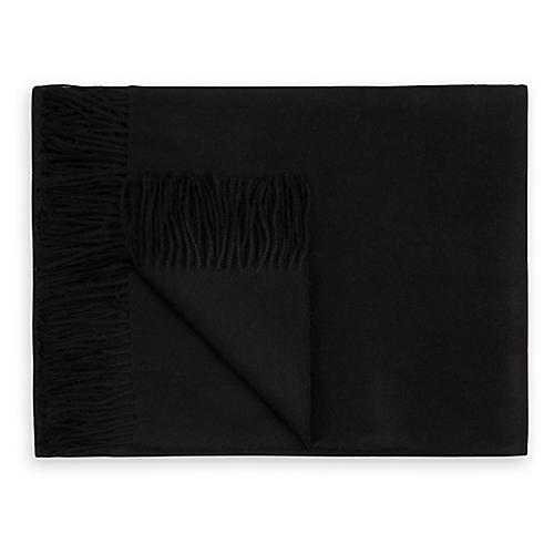 Madison Alpaca Throw, Black