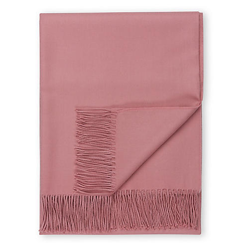 Madison Alpaca Throw, Dusty Rose