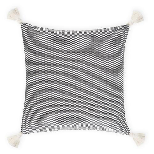 Ella 18x18 Pillow, Gray/Natural