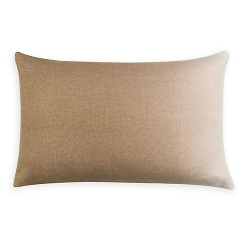 Dip-Dyed 14x22 Lumbar Pillow, Camel