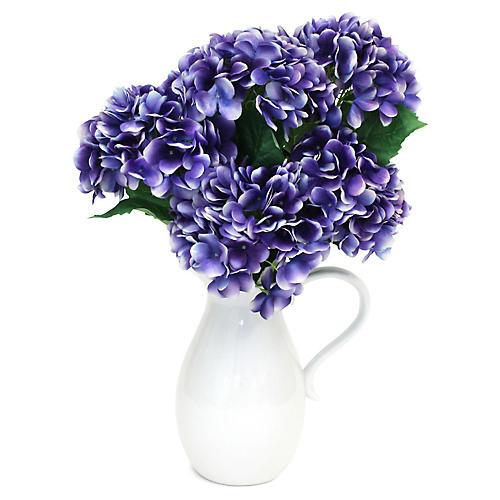 "24"" Purple Hydrangea Arrangement w/ Pitcher, Faux"