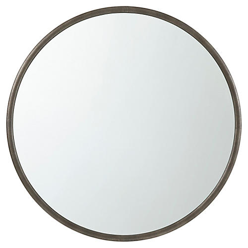 Orbital Wall Mirror, Silver