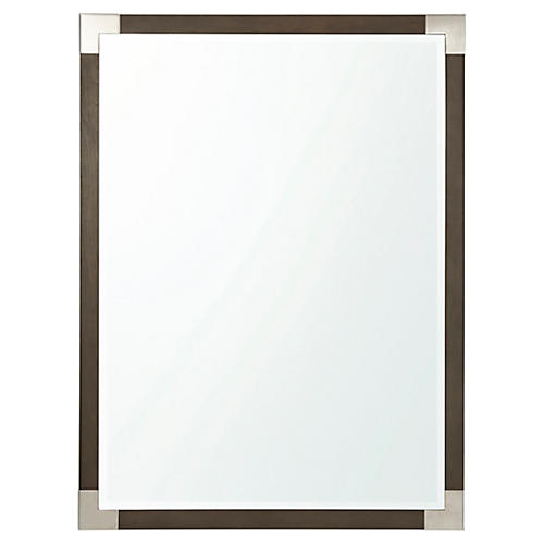 Luxe Wall Mirror, Brown/Silver