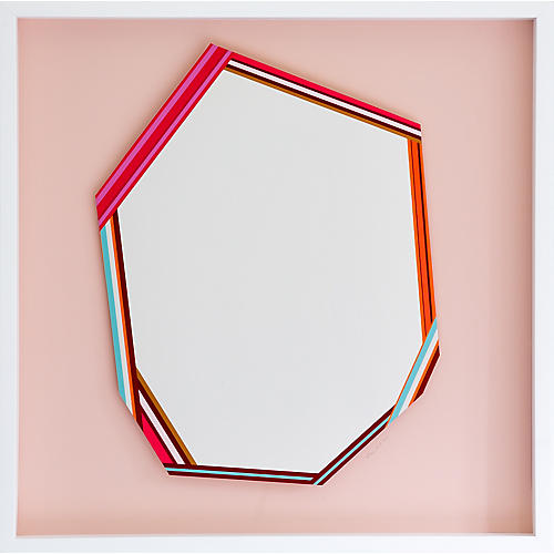 Dawn Wolfe, White-on-Pink Abstract