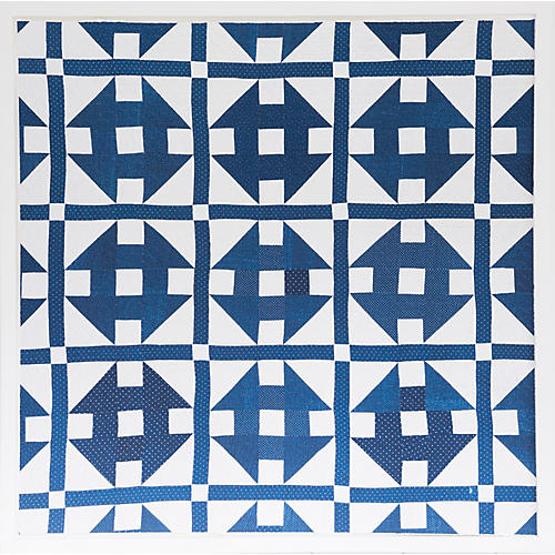 Dawn Wolfe, Blue Quilt Print