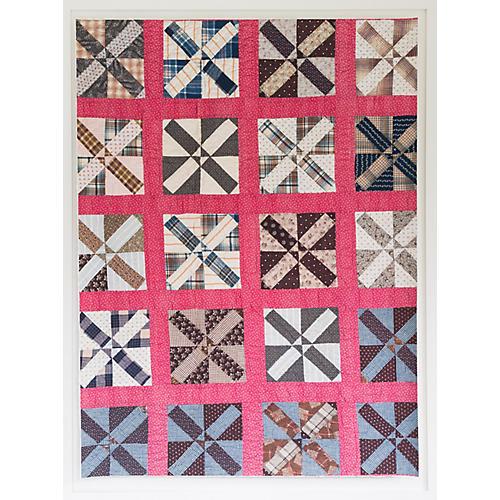 Dawn Wolfe, Pinwheel Quilt Print