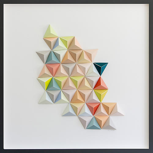 Dawn Wolfe, Pastel Origami Abstract