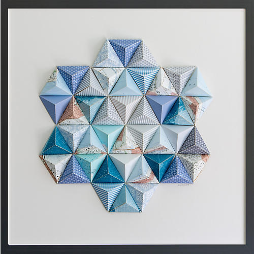 Dawn Wolfe, Santa Monica Origami Map Collage