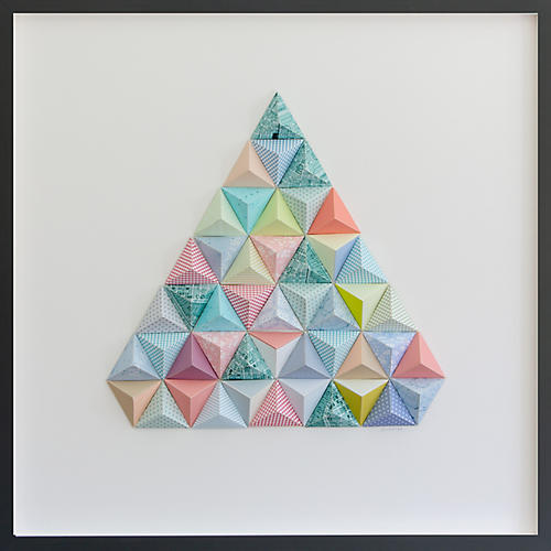 Dawn Wolfe, Florida Origami Map Collage