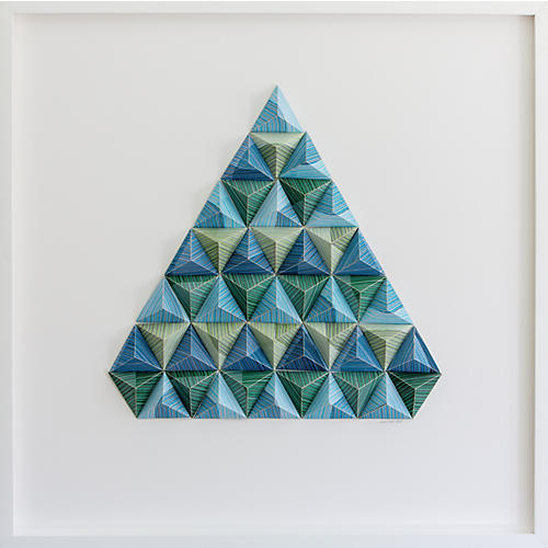 Dawn Wolfe, Striped Triangle Origami Collage