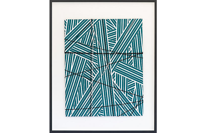 Dawn Wolfe, Wrapped Cord Abstract: Emerald
