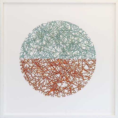 Dawn Wolfe, Apricot/Sage Straw Circle