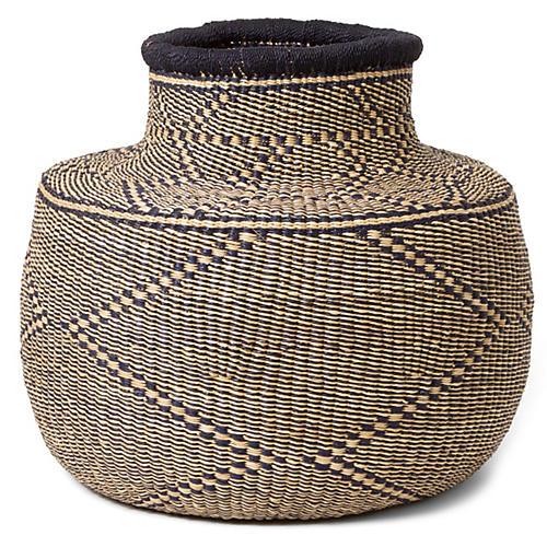 """17"""" Nyeusi Arrow Basket, Black/Natural"""