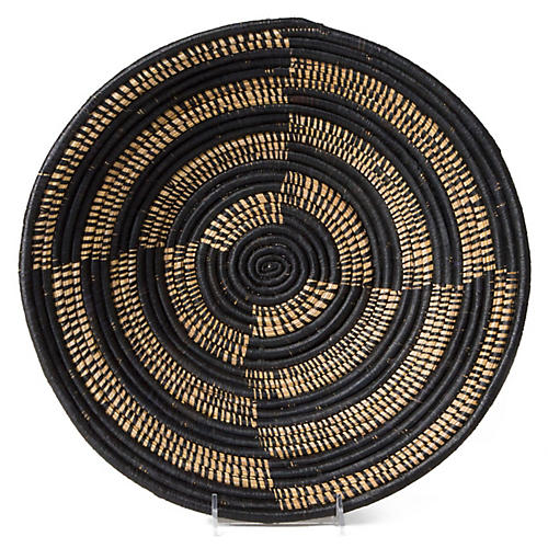 "14"" Shamba Decorative Bowl, Black/Brown"