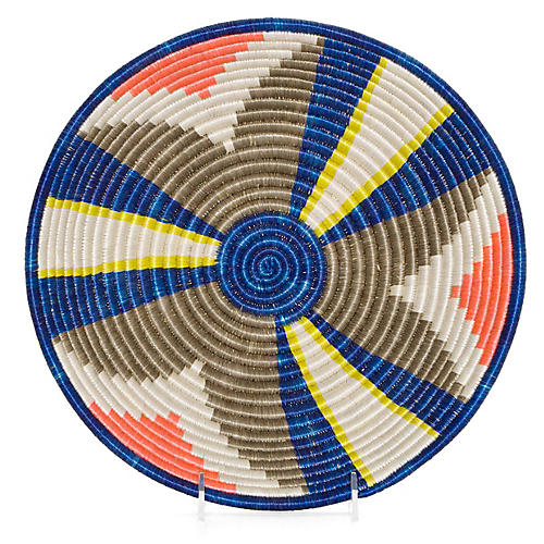 "12"" Kulabu Decorative Bowl, Taupe/Multi"