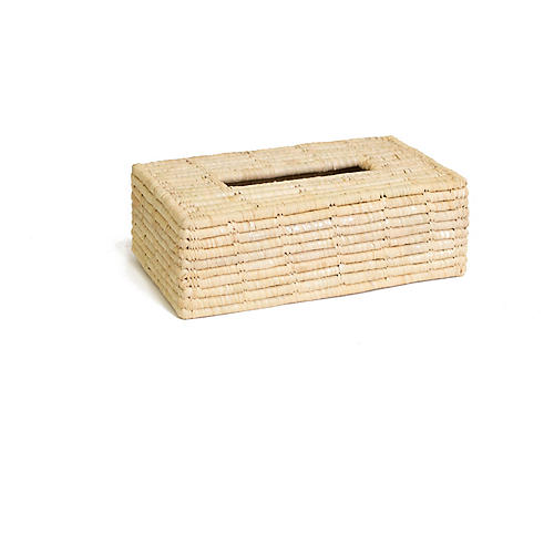 "11"" Afya Rectangular Tissue Box, Natural"