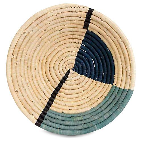 """10"""" Pie Decorative Bowl, Blue/Natural"""