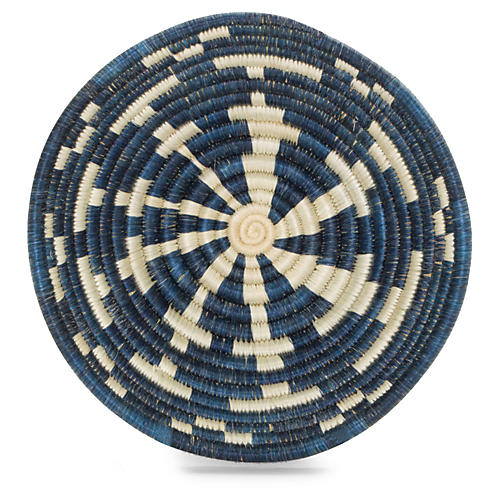 "6"" Njia Decorative Bowl, Blue/Ivory"