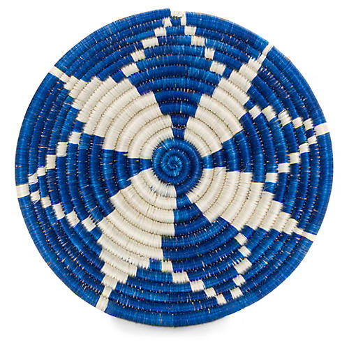 "6"" Bikari Decorative Bowl, Blue/White"