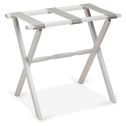 Rowan Luggage Rack, Spa/White
