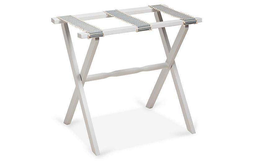 Rowan Luggage Rack, Spa/White
