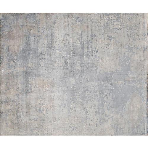 Modern Rug, Silver/Blue