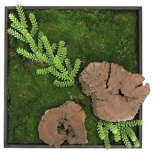 "25"" Kona & Moss Wall Piece, Faux"