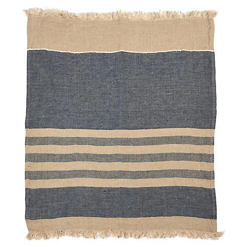 The Belgian Linen Throw, Sea