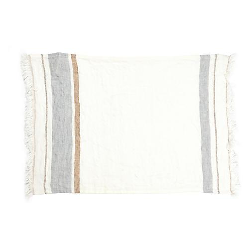 The Belgian Guest Towel, Oyster Stripe