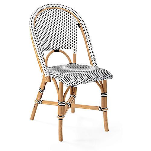 Riviera Side Chair, Black/White