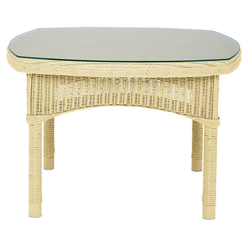 Deauville Side Table, Ivory