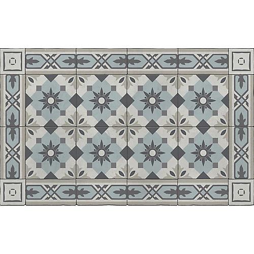 Cecile Floor Mat, Sky